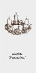 Adventskranz Weihnachtskarte