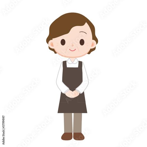 家政婦の中年女性