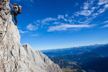 Climbing in Austrian Alps