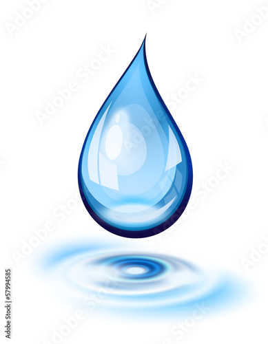 Water drop icon - 57994585