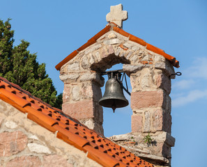 Small bell tower in The monastery Gradiste, Montenegro