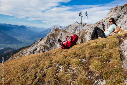 Mountain hiking Poster