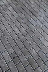 Granite Cobblestoned Gray Textured Floor