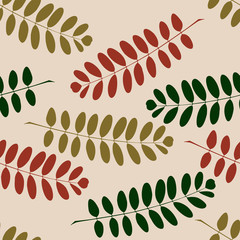 Seamless pattern with autumn branches