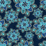 Wallpaper pattern with flowers on a background