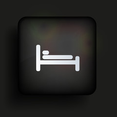 Vector square icon on black background. Eps10