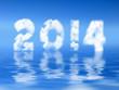 2014, nuages fond ciel bleu
