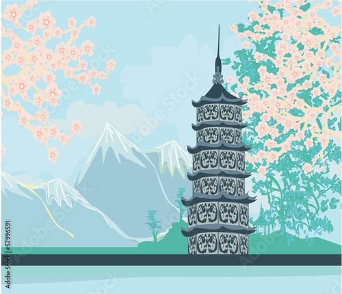 Naklejka Piękny krajobraz w Japonii