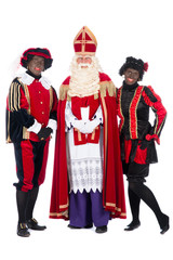 Sinterklaas and a couple of his helpers
