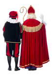 Sinterklaas and Black Pete from the back