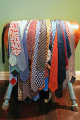 Rack of neckties