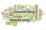 Energy word cloud - alternative eco power