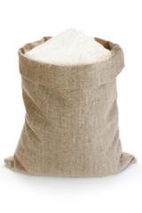 Linen sack with flour