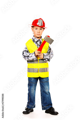 firefighter kid