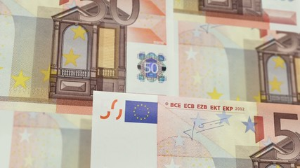 50 Euro Bills Fly  (HD Loop)