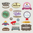 color bakery signs  - vector set