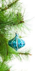 christmas ball and fir tree