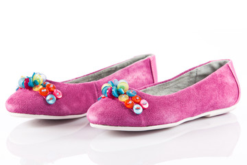 children's shoes isolated on a white background