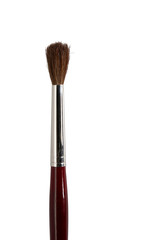 art paint brush closeup isolated on white