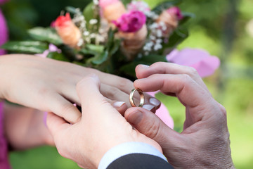 Wedding ring putting