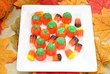Fall Halloween Treats on a Plate