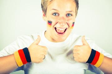 Happy German Supporter