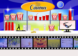 illustration of cinema