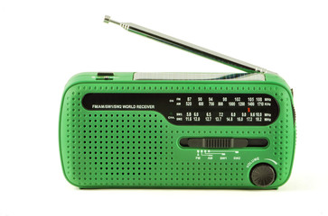 Green radio receiver with solar power isolated