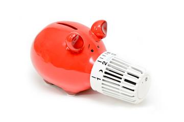 Heizkosten sparen Sparschwein