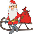 Santa Claus and Christmas gifts cartoon