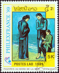 Poor on Seashore by Picasso (Laos 1989)