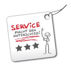 """Etikett """"Service"""""""
