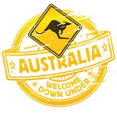 Stempel Willkommen in Australien