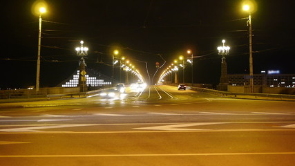 HD - Night street timelapse