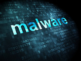 Privacy concept: Malware on digital background poster