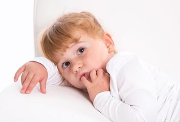 Kleines rothaariges Mädchen - Kinderaugen
