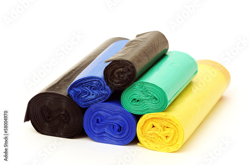 Rubbish bags rolls