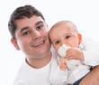 Vater und Sohn - isoliert - Portrait - Baby