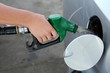 canvas print picture - Gas Station Refill Hand and Nozzle
