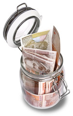 Croatian Kuna in jar