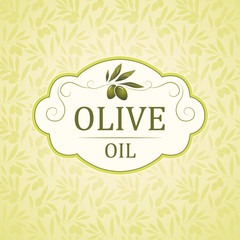 Olive pattern. decorative olive branch.For labels, packaging.