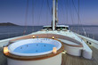 jacuzzi onthe deck of luxury sailboat - 58006333