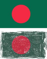 Bangladeshi grunge flag. Vector