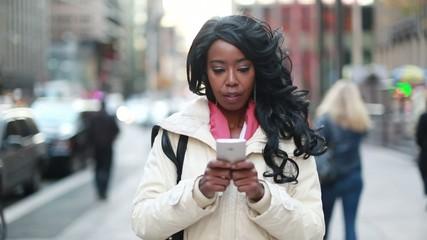 African American cosmopolitan young woman in New York