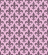 Pink Fleur De Lis Textured Fabric Background
