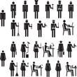 Set of icons figure people job occupation