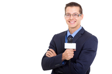young news reporter in live broadcasting