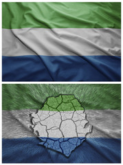 Sierra Leone flag and map collage