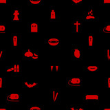 vampire icon pattern eps10