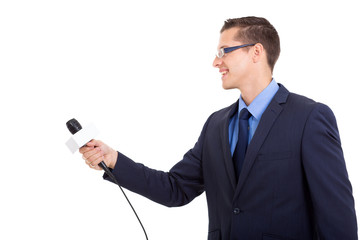 journalist interviewing